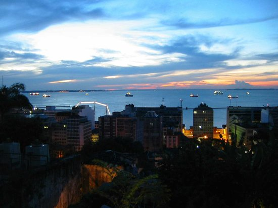 Salvador, BA : An evening view from the Hotel Casa do Amarelindo