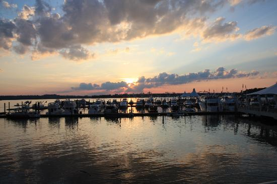 Learn more about Oxon Hill. Oxon Hill, MD: View along boardwalk at sunset