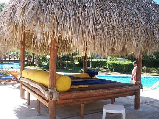 Canopy beds at the pool picture of dreams punta cana for Pool canopy bed