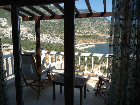 Likya Residence and Spa: View to Kalkan from room