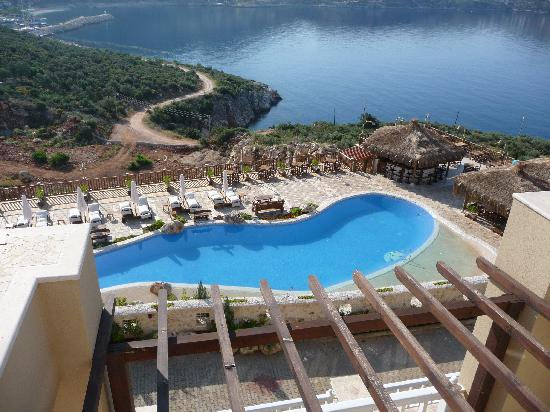 Likya Residence and Spa: View to Kalkan from balcony