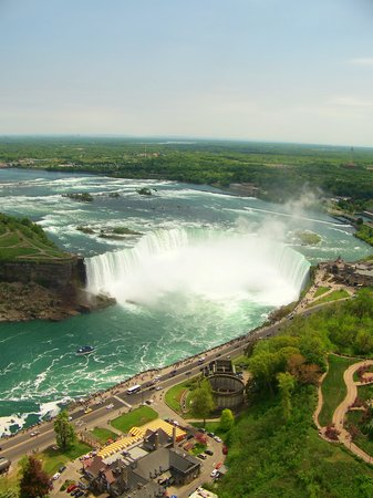 Niagara Falls, Canada: view from the skylon of the HorseShoe falls