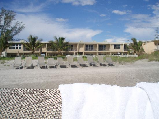 The Beach on Longboat Key: Building from beach