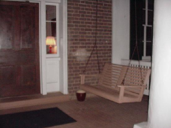 Maple Hall: Second-floor gallery porch swing