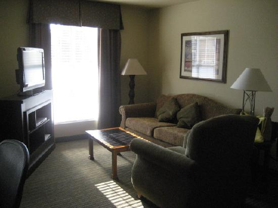 HYATT house Pleasant Hill: Living Room with TV & DVD player (another TV inside bedroom)