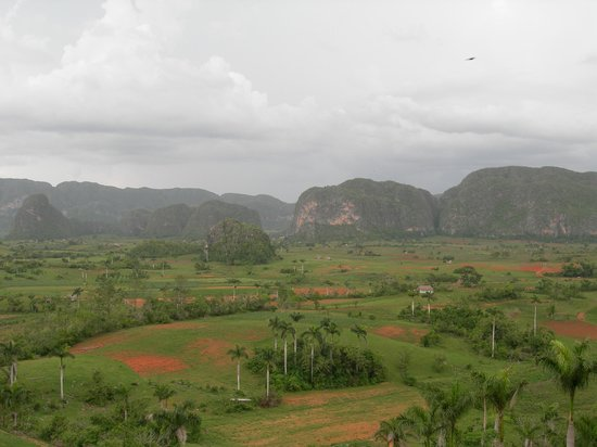 Vinales, Cuba: View over the valleys from Hotel Jazmines