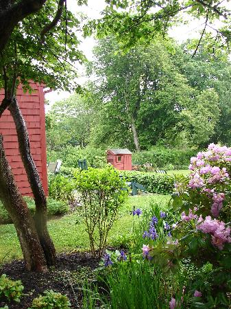 Woods Hole Passage Bed & Breakfast Inn: View of the backyard