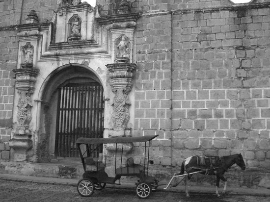 Antigua, Guatemala: B &amp; W photo