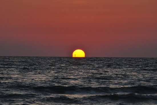 Siesta Key, Floryda: Sunset at Crescent Beach