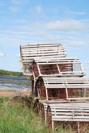 Prince Edward Island, Canada: lobster traps