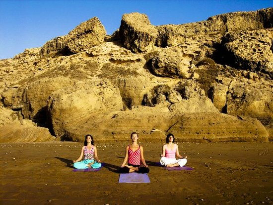 Morocco: having a yoga