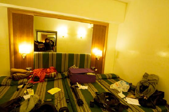 Max Hotel : 4 beds for 4 people - no space!!!!!