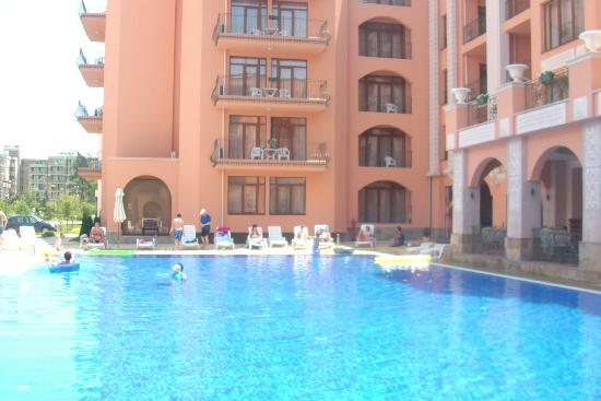 Pool area picture of hotel palazzo sunny beach - Sunny beach pools ...