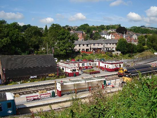 The little heritage rail line at Wirksworth Station