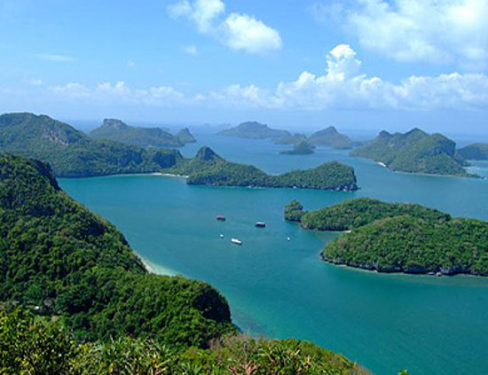 Koh Samui, Tayland: Marine Park ( View from Wua Ta Lab Island)