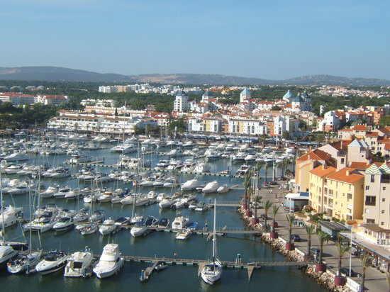 Vilamoura, Portugal: view from top floor of hotel