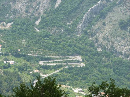 Becici, Montenegro: M for Milena, part of the 25 hairpin bends