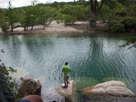 Our whole group out on the frio picture of frio river for Fishing cabins in texas
