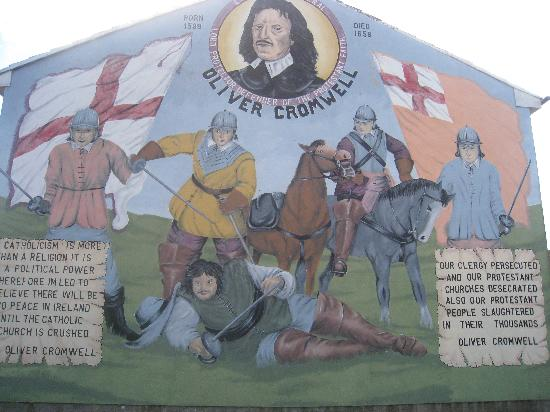 Oliver Cromwell Ireland Belfast uk Oliver Cromwell