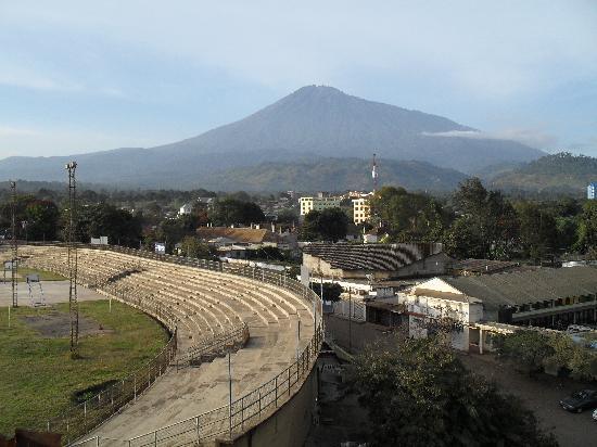 Arusha Crown Hotel: Mount Meru - the view from Room 502 - my window
