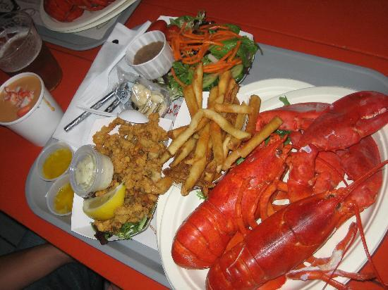Twin Lobster Dinner Picture Of Portland Lobster Co