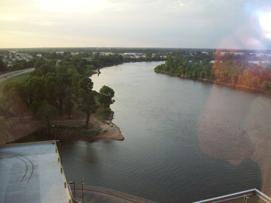 Shreveport, Louisianne : River view from our room