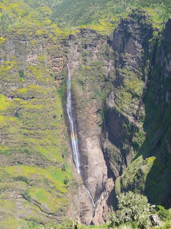 Gonder, Ethiopia: Waterfall in the Simiens