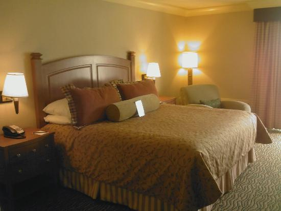 Three Rivers Casino & Hotel: Comfy clean king size bed