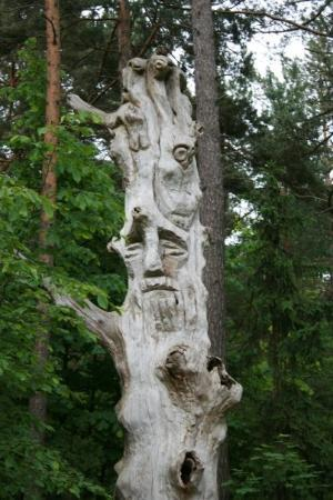 a strange sculpture in the park of Palanga