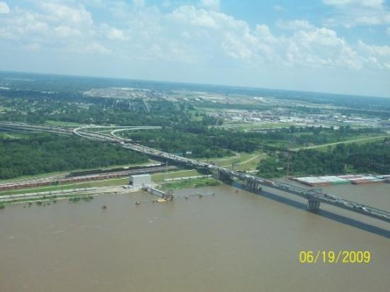 Mississippi River in St Louis MO Picture of Misissippi River Missouri T