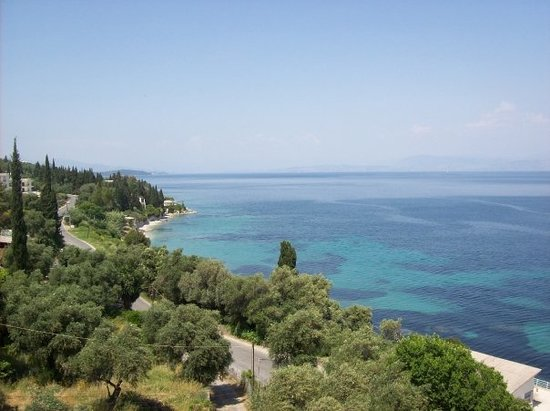 Corfu Town, Greece: another view from the top of the hotel