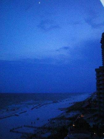 Four Winds Condominiums: view from balcony right at dusk