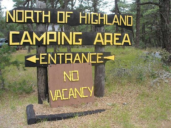 North Of Highland Camping Area: It's a popular destination, so do plan ahead!