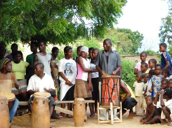 The Almond Tree Guest House: The drum and dance troupe