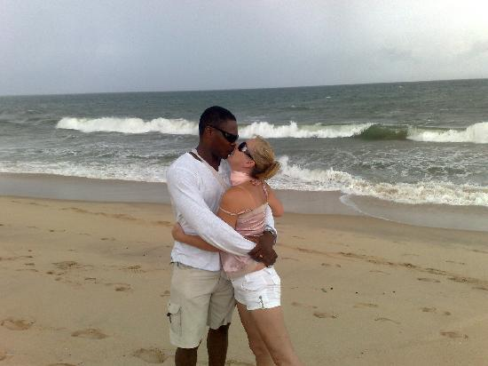 Lagos State, Nigeria: me with my husband lekki beach