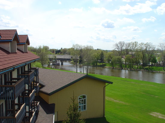 Frankenmuth, MI: View of the river from our room