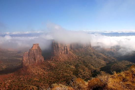 Fruita (CO) United States  City pictures : Fruita, CO: Fog in the Colorado National Monument