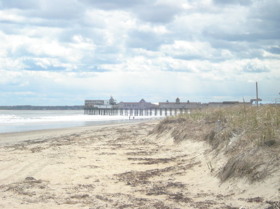 Old Orchard Beach, Мэн: beautiful beach early am