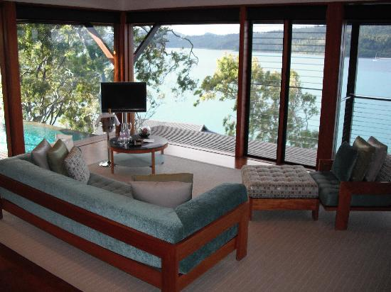 Qualia Resort: Lounge & great view