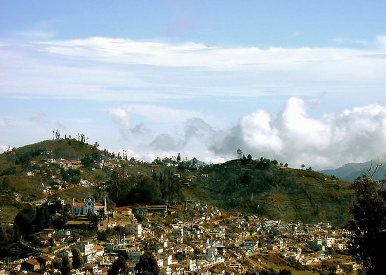 Kodaikanal, Inde : hill side view