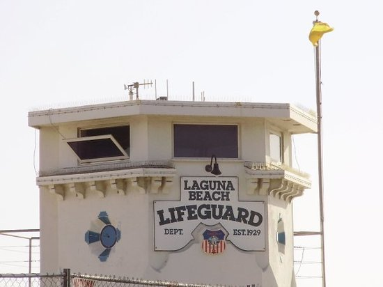 Laguna Beach, Californien: Main Beach Lifeguard tower
