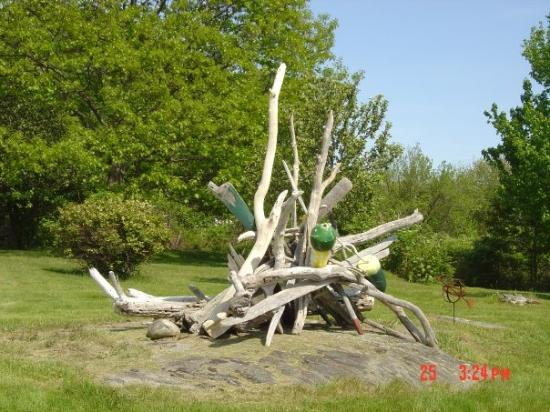 Long Island, ME: pile o' sticks, now a decoration
