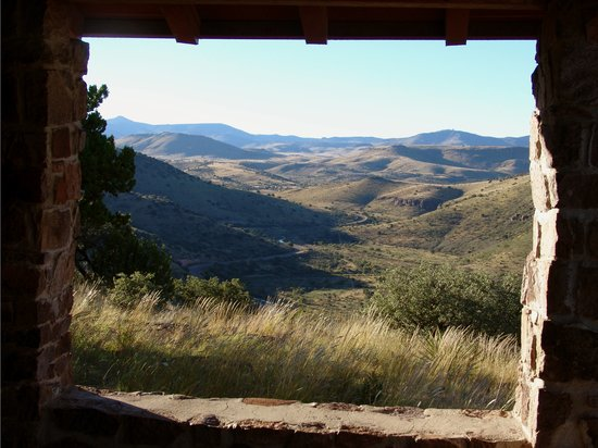 Fort Davis, Teksas: View of Scenic Loop from Davis Mountain State Park