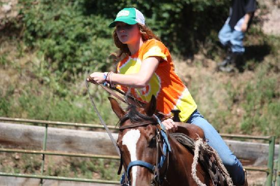 Lost Valley Ranch: 13 Year old daughter in the rodeo at weeks end