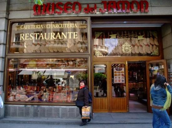 Museo del Jamon (Smoked Ham Museum) is not a real museum but a large Deli ser...