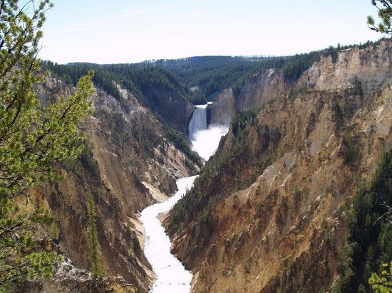 West Yellowstone, MT: Artists Point.  One of the most painted waterfalls in the world.