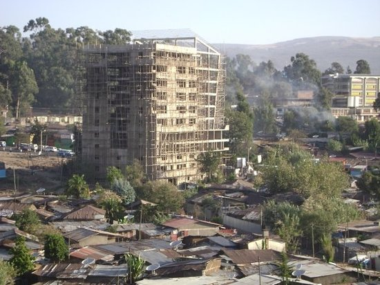 Scene from hotel room (hilton).  addis ababa is 8500 ft above sea level - over a mile and half h