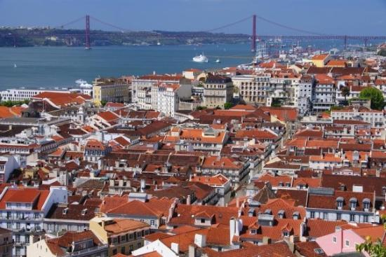 View from Castelo de S&#227;o Jorge,&#13;&#10;Lisbon, Portugal