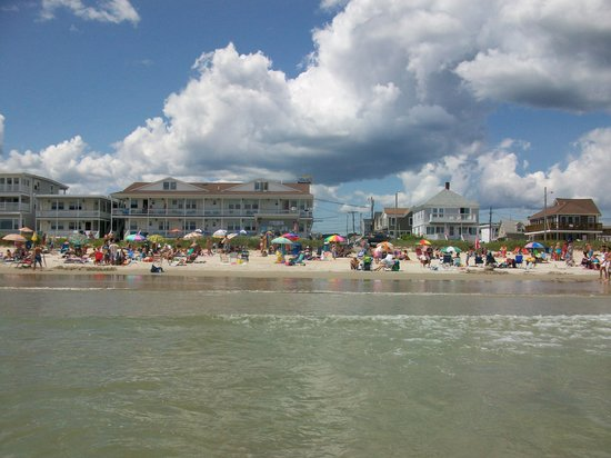 Old Orchard Beach, ME: The Normandie Inn from the surf.