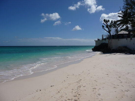 Christ Church Parish, Barbados: one of the quieter beaches below the Mermaid restaurant